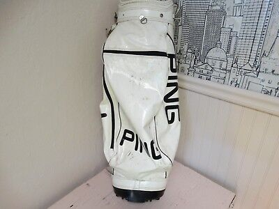"Vintage Ping 8"" Staff Golf Bag - 6 way carry bag 8 lbs. total weight- lightweigt"