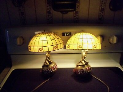 Pair Of 1971 Schlitz Beer Lights, Wall Sconces, Working Condition