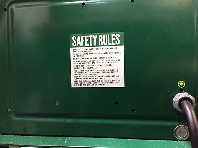 Powermatic Houdaille Belt Sander 30B, Safety Rules Sticker/Decal Instructions