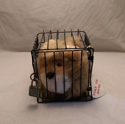 Vintage Lion Earmuffs in Cage. Very cute!