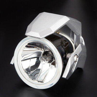 "3"" round fog lamp halogen H3 12V 55W ECE silver shield xPAIR for Honda Kawasaki"