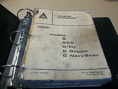 Allis-Chalmers  Combine Parts Catalog Lot Of 3.