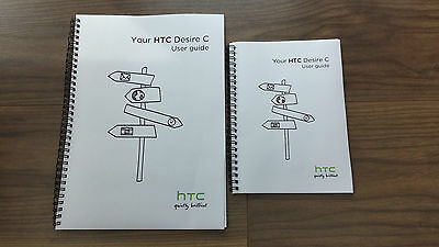 ~PRINTED~ HTC Desire C user guide instruction manual COLOUR A4 or handy A5