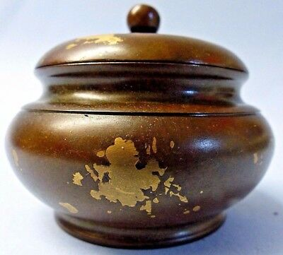 Very Fine Quality Old Chinese Gold Splash Censer - Seal Mark On Base - Very Rare