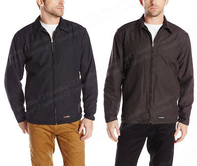 Wrangler Workwear Men's Work Jacket Canvas Charcoal Brown Navy Blue