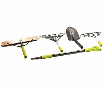 Sun Joe Interchangeable Lawn & Garden Set, Rake, Shovel, Broom, Tool Set