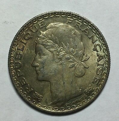 French Indo-china 1931 A 1 Piastre Silver Coin