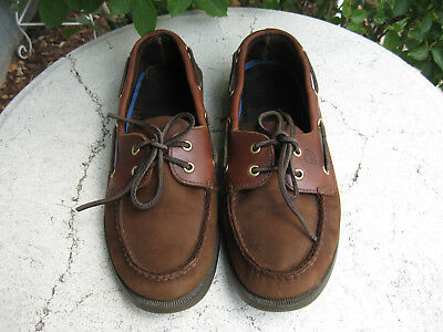 Sperry Top Sider brown  Leather boat Shoes mens Size 11 M  nice!