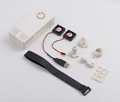 V2 White Case Dual Fans for Stratux ADS-B Kit Fits AHRS Module and GPYes