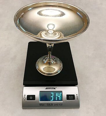 314 GRAMS  Watrous Sterling Silver Weighted Footed Compote Martini Art Deco PT46