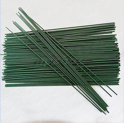 10~100Pcs Green Floral Tape Iron Wire Artificial Flower Stub Stems Craft Decor