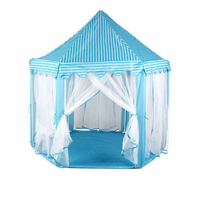 Princess Castle Play House, Large Indoor/Outdoor Kids Play Tent for Kids Blue