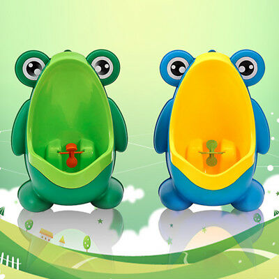 Boy's Potty Urinal Standing Toilet Penico Unique Lovely Frog Shaped Wall-Mounted