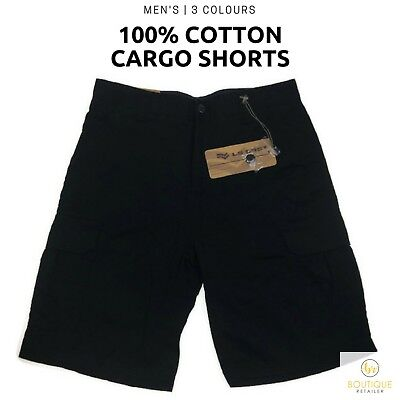 Men's 100% COTTON CARGO SHORTS Premium Casual Quality Drill A843 New