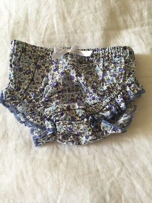ROCK YOUR BABY BLUE FLORAL BLOOMERS SIZE 00 (3-6months)