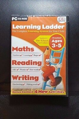Learning Ladder Preschool Ages 3 - 5 *NEW / SEALED - PC CD ROM