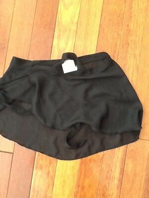 Girls Black Ballet Wrap Skirt Size 8 - 10 Bnwt