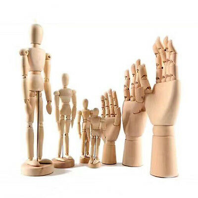 Portable Wooden Artist L/R Hand or Human Body Model Gift Art Sketch Figure PGS