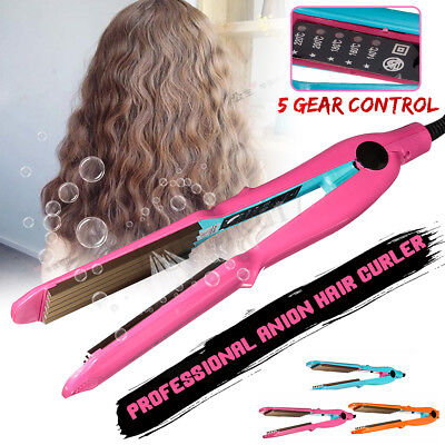 Hair Crimper Crimping Perm Waver Curler Wet/Dry Ceramic Anion Temperature Adjust