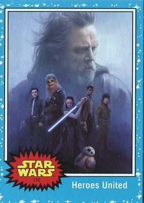Star Wars - Journey to The Last Jedi - Blue - Complete Card Set (110) - NM