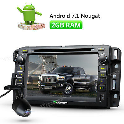 "7"" LCD Android 7.1 Car Stereo GPS Player 2GB for Chevrolet GMC Buick + Dashcam W"