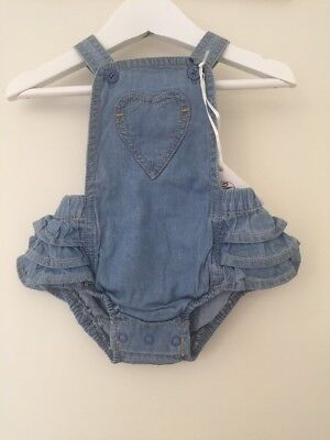 BEBE BY MINIHAHA RUFFLE SUMMER ROMPER SIZE 000 (3months) BNWT