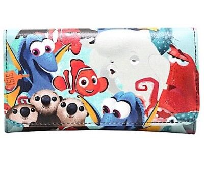 Disney Pixar Finding Dory Nemo Characters Trifold Flap Wallet New With Tags!