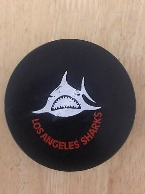 WHA Game Used Puck Los Angeles Sharks Raiders Rare Made In Canada