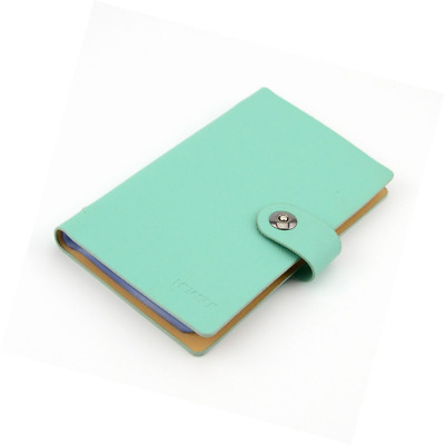 Business PU Leather Cards Organizer Book, 240 Cell-Blue