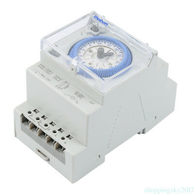 50 ~ 60 Hz 3-Module Segment Mechanical DIN RAIL Timer Switch with Power Reserve
