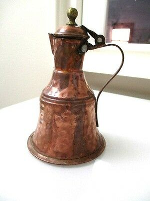 Vintage Morracan Copper hand-made Oil Decanter  16cm H