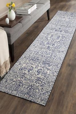 Hallway Runner Hall Runner Rug Modern Blue 3 Metres Long FREE DELIVERY Edith 652