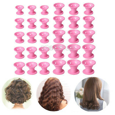 30pcs Silicone Hair Curler Magic Hair Care Rollers No Heat Hair Styling Tool
