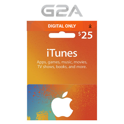 iTunes Gift Card $25 USD Key - 25 Dollar US Apple Store Code for iPhone iPad Mac