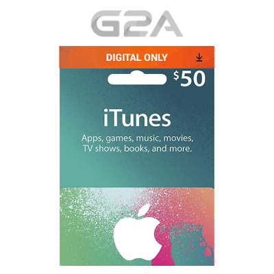 iTunes Gift Card $50 USD Key - 50 Dollar US Apple Store Code for iPhone iPad Ma
