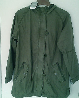 Next Girls Khaki Hooded Parka Jacket Age 13 Years BNWT Tag £36
