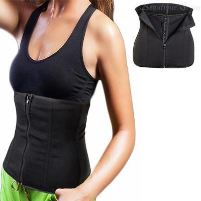 steel Boned Waist Trainer Corset With Zipper Workout Body Shaper Girdle Slim UK