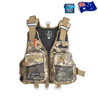 Mutil-Pocket Fly Fishing Mesh Bag Vest Sport Outdoor Backpack Size Adjustable