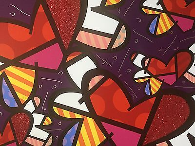 """Britto: Unikat (Giclée) """"LOVE IS IN THE AIR"""", signiert, 102 x 76 cm, RIZZI Pin"""