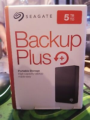 Seagate 5tb Backup Plus Portable External Hard Drive HDD (STDR5000303)