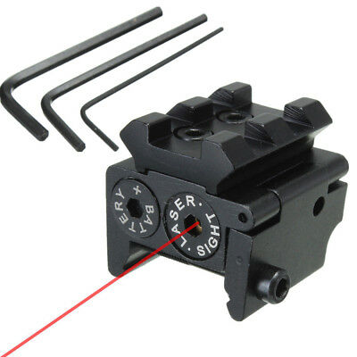 Mini Compact Tactical Red Dot Laser Sight Scope With 20mm Picatinny Rail Mount
