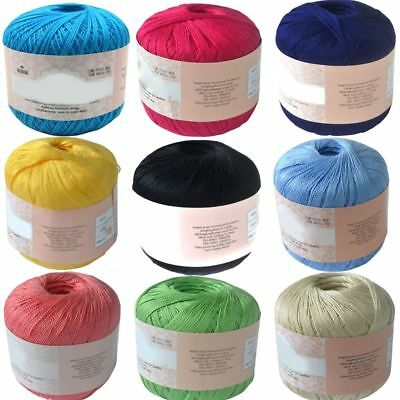 Factory Mercerized Cotton Cord Thread Yarns for Embroidery Crochet Knitting Lace