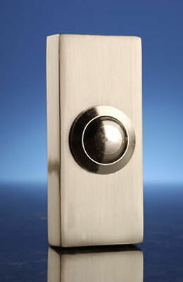 Byron Wired Surface Mount Bell Push Button, Brushed Nickel. Model 2204Ni