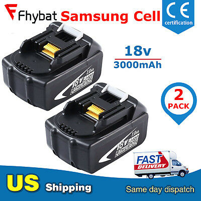 Replace for Makita 18V Battery 3000mAh Lithium-Ion BL1830 BL1840 BL1850 Tools