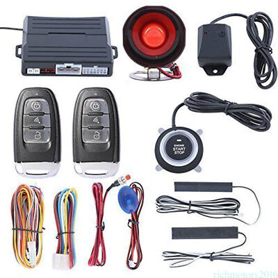 Keyless Entry Push Button Remote Control Car Alarm Security Start System Kit wz3