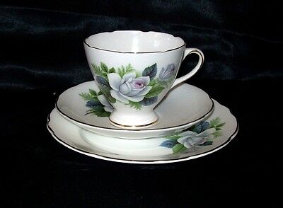 Gladstone/Staffordshire Fine  Bone China Cup, Saucer & Side Plate