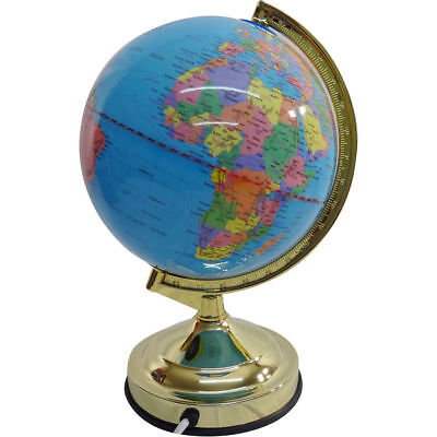 "32cm 13"" WORLD GLOBE Rotating Swivel Map Earth Office Geography Diameter Lamp"