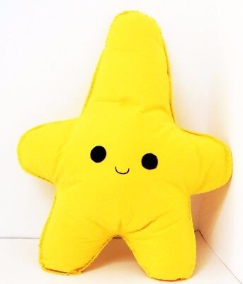 Yellow Happy Star Shaped Cushion Plush Pillow Kids Room Baby Nursery Decor Gift