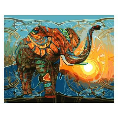 Digital Acrylic Painting Kit Paint by Number Canvas Elephant at Dusk Picture