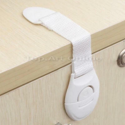 2x Adhesive Child Kids Baby Cute Safety Lock For Door Drawers Cabinet Cupboard